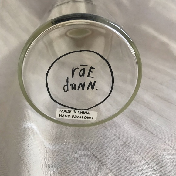 Rae Dunn Other - Rae Dunn glass water bottle with bamboo lid